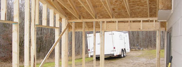 Home contractor home addition and garage construction