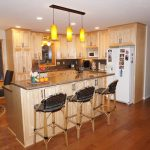 The August - a modern kitchen remodel with new kitchen island and open floor plan.